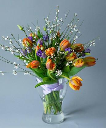 Букет с тюльпанами №6
