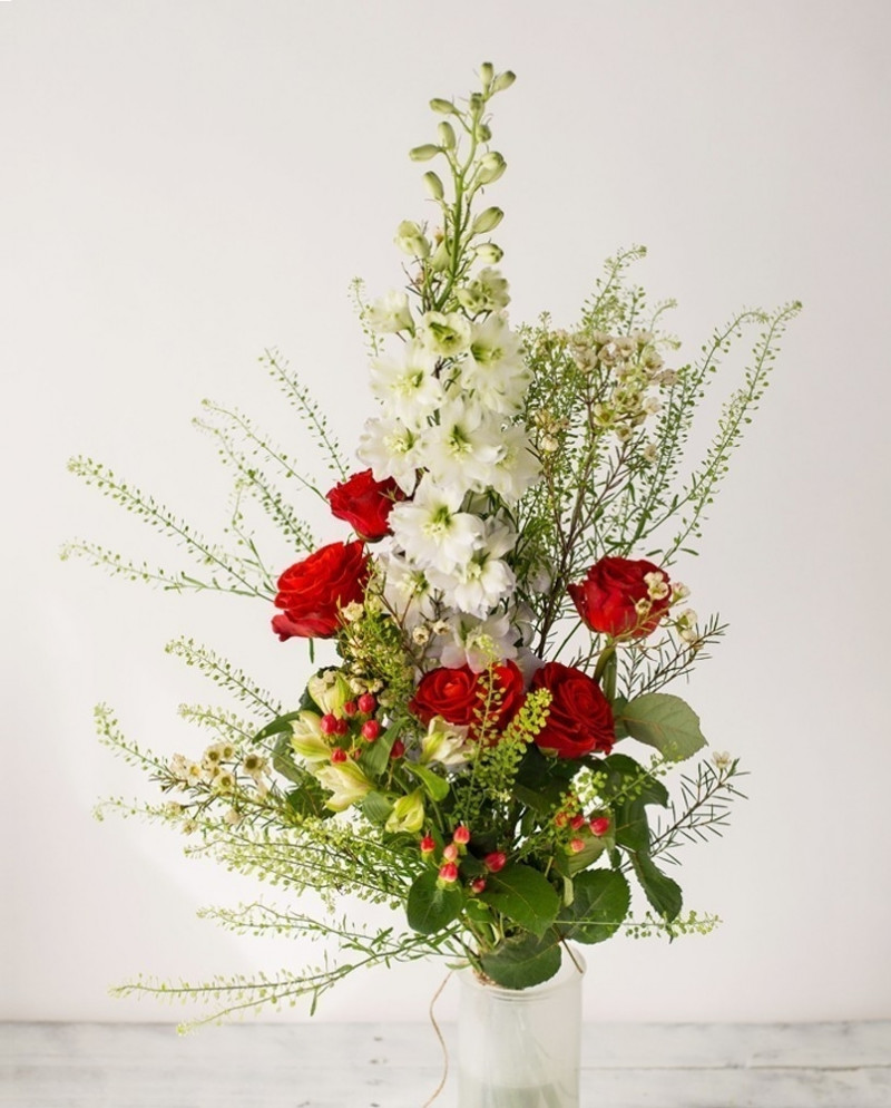 Букет с красными розами №47