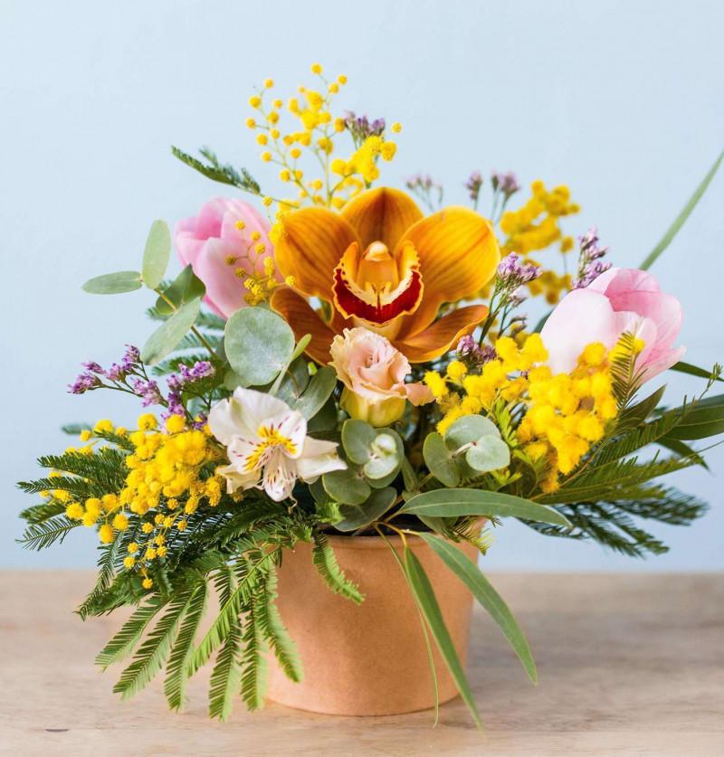 Цветочная композиция с орхидеей №53