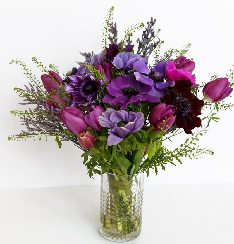 Фиолетовый полевой букет №63